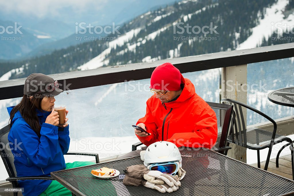 On mountain coffee stock photo