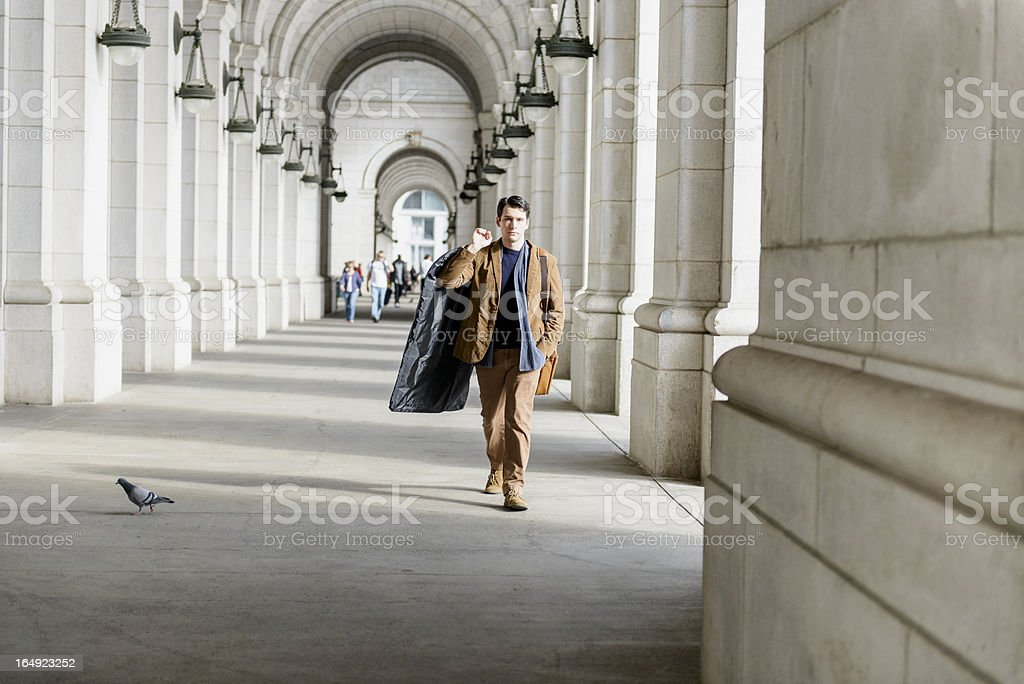 On My Way, Entering The Station royalty-free stock photo
