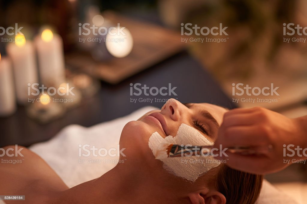 On my way to beautiful and soft skin stock photo