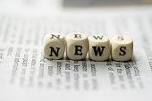 NEWS on newspaper