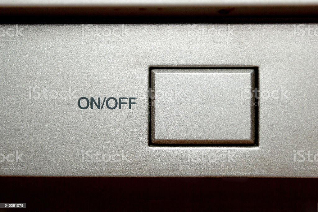 On Off Button stock photo