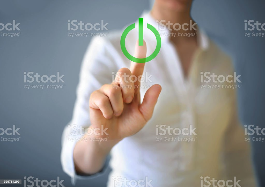 On - off button stock photo