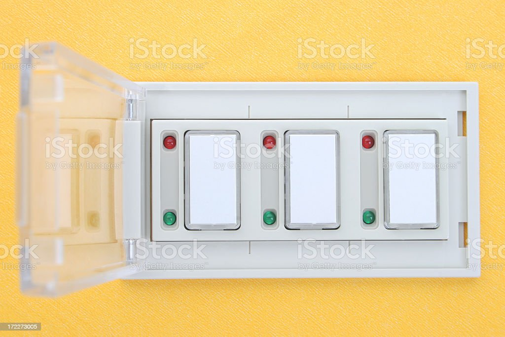 On Off buttons stock photo