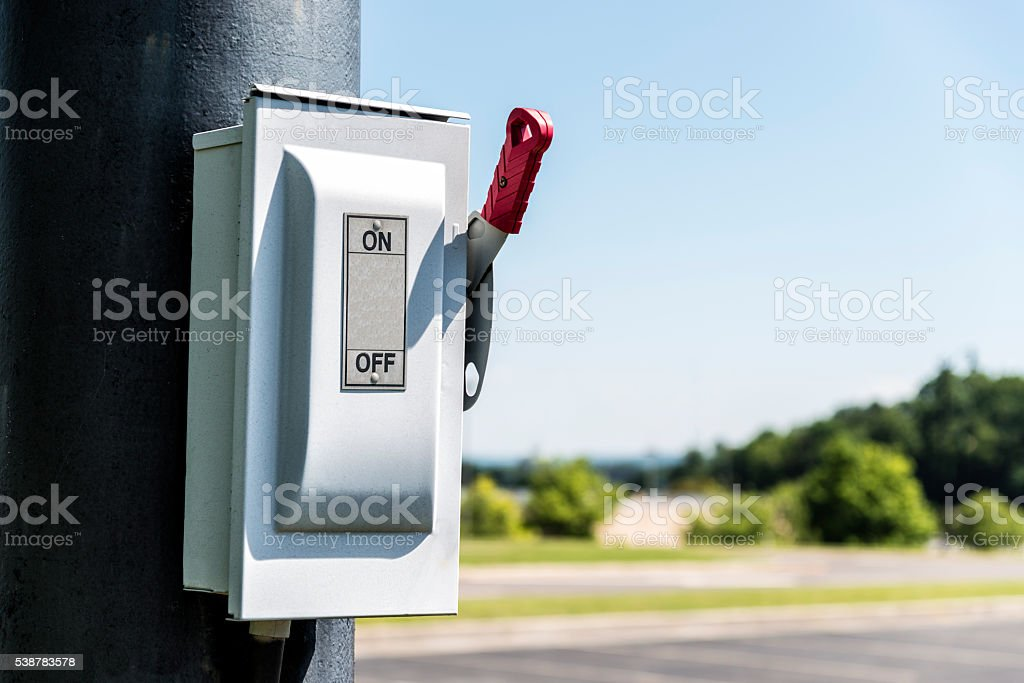 On Off Switch With Copy Space stock photo