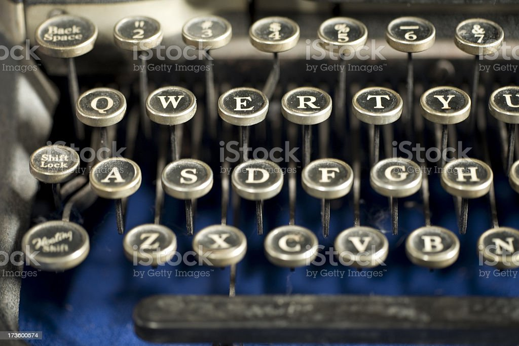 QWERTY on Old Fashioned Typewriter royalty-free stock photo