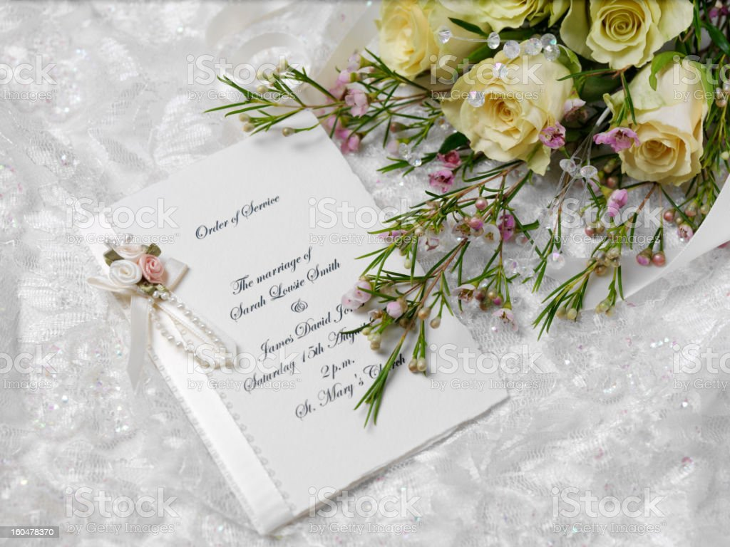 On Our Wedding Day royalty-free stock photo