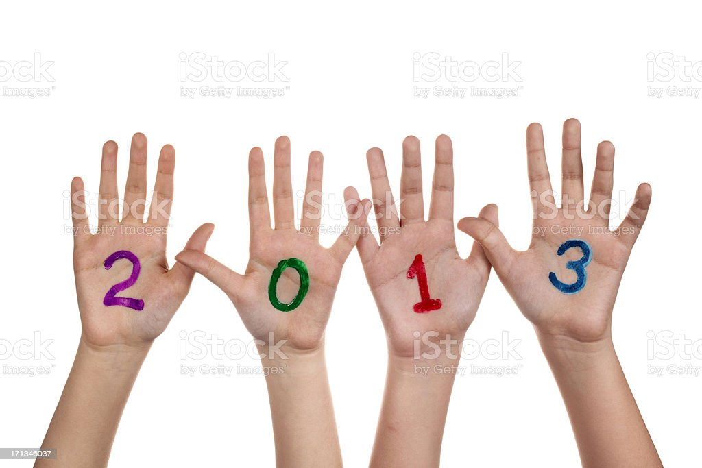 2013 on palms stock photo