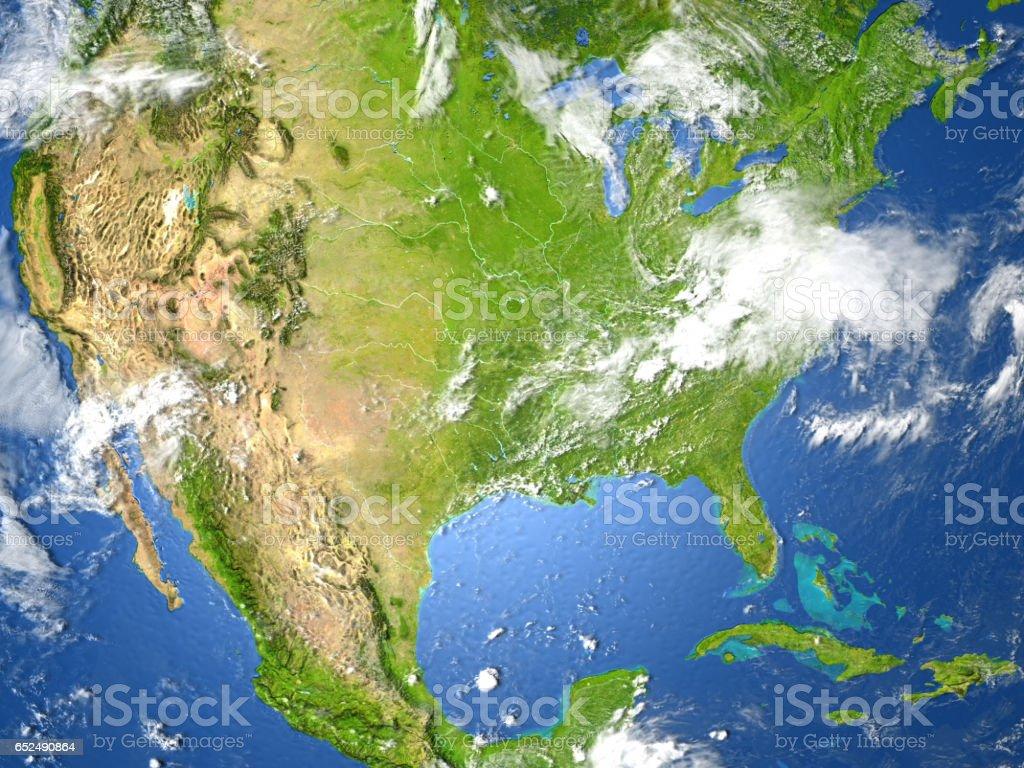 USA on planet Earth stock photo