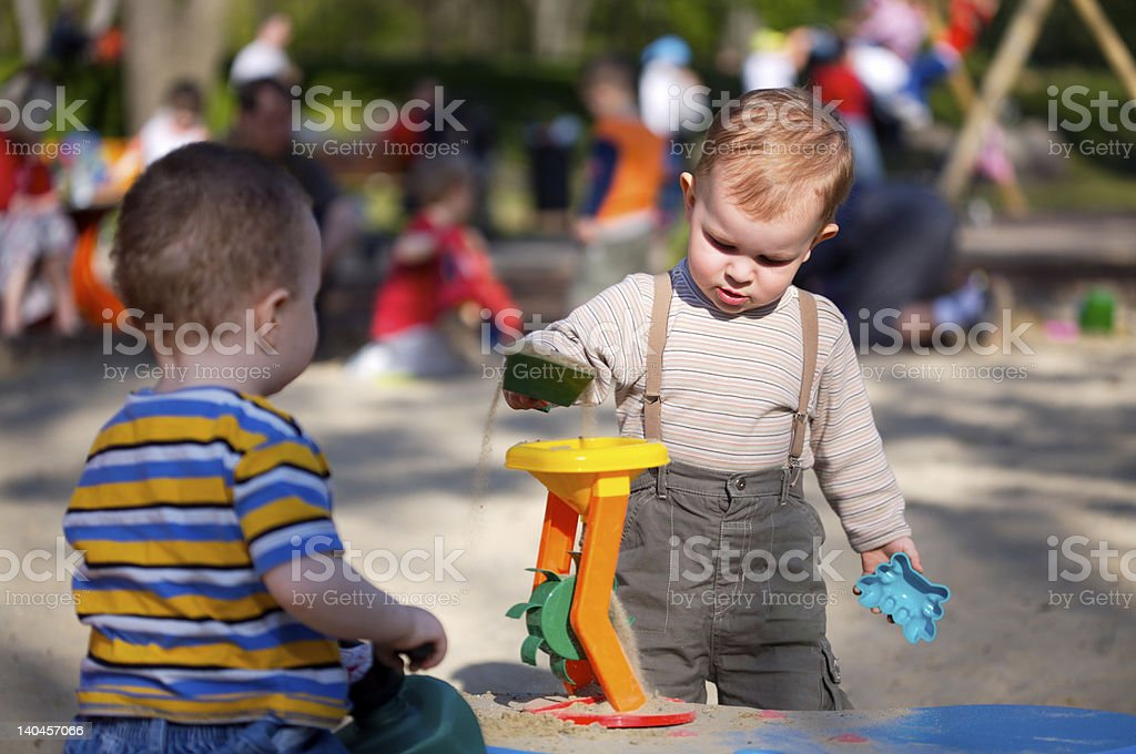 On Playground royalty-free stock photo