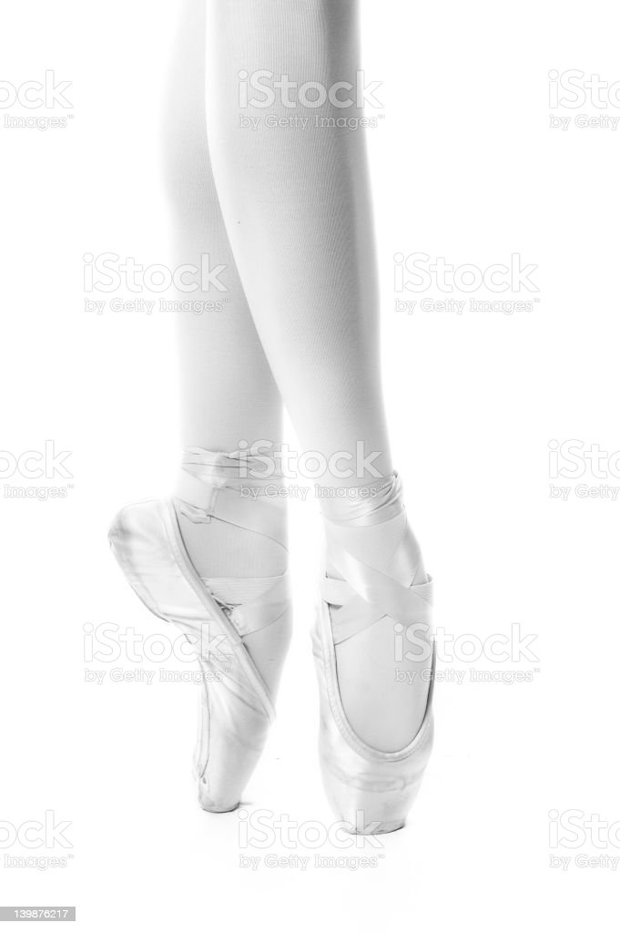On Pointe bw royalty-free stock photo