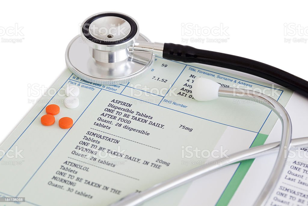 On Prescription stock photo