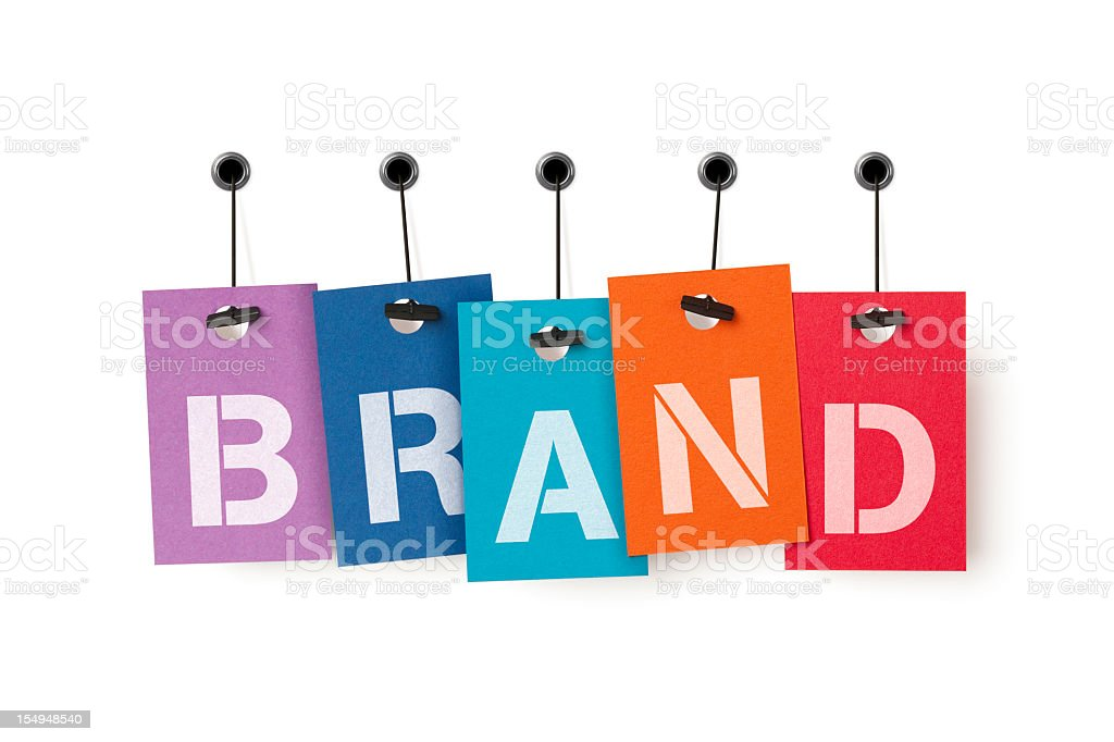 BRAND on price labels royalty-free stock photo