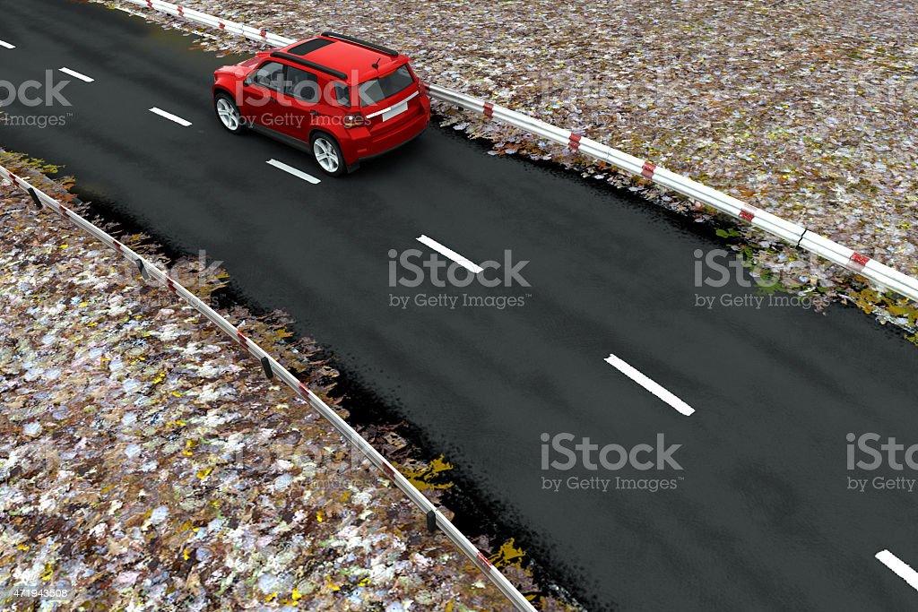 SUV on Road stock photo