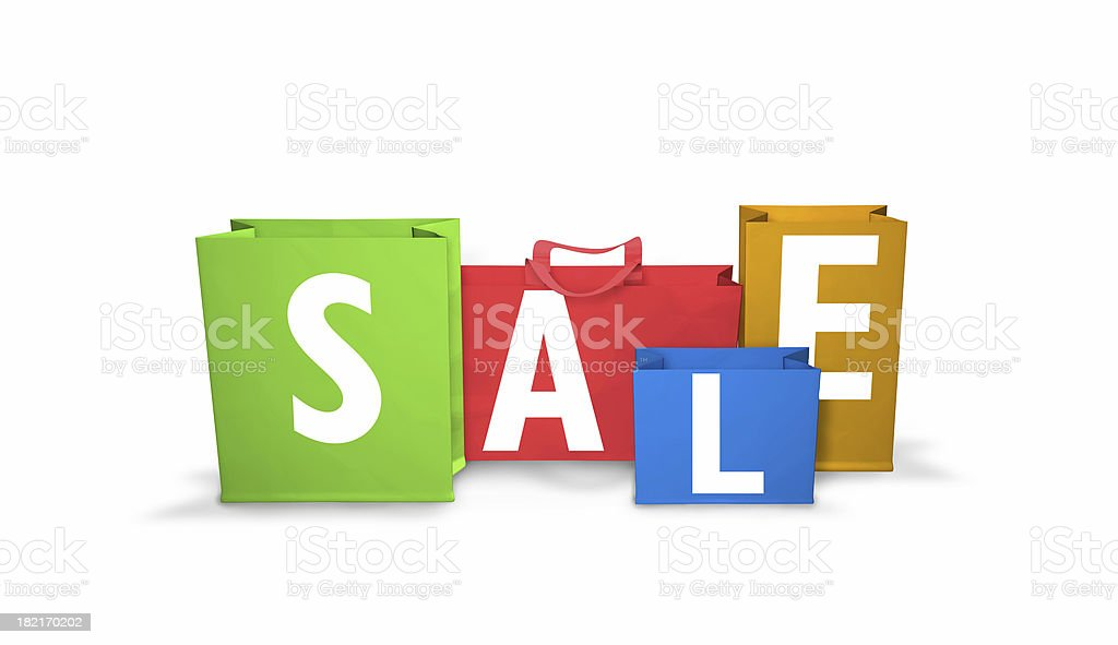 On sale shoppingbags royalty-free stock photo