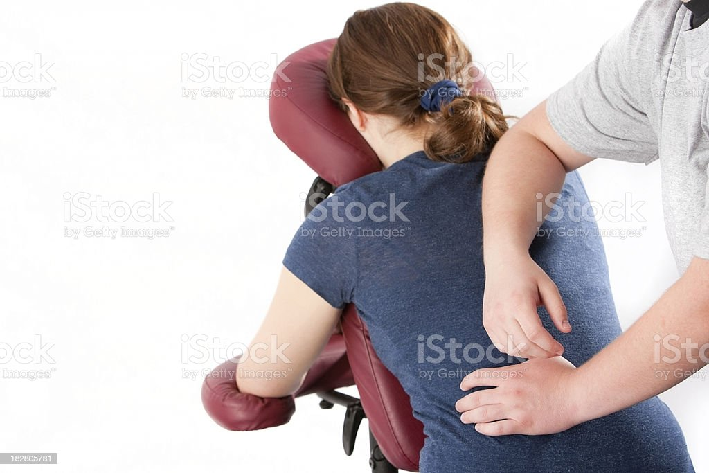 on site massage royalty-free stock photo