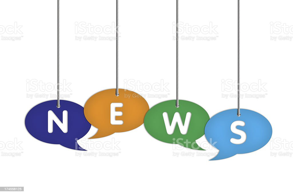 NEWS on speech bubble price labels royalty-free stock photo