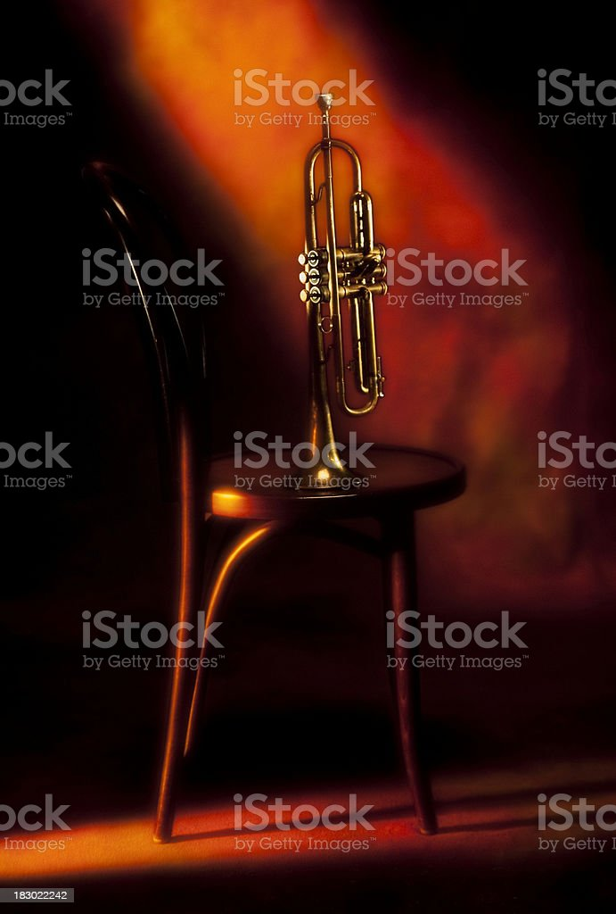 On Stage Trumpet stock photo