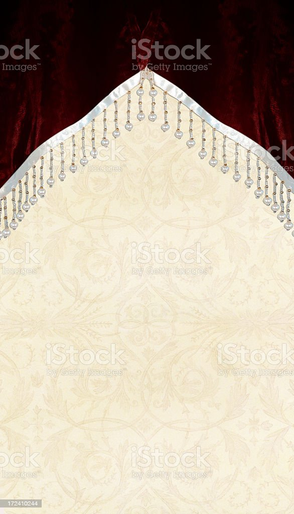 On Stage Velvet Curtain with Pearls royalty-free stock photo
