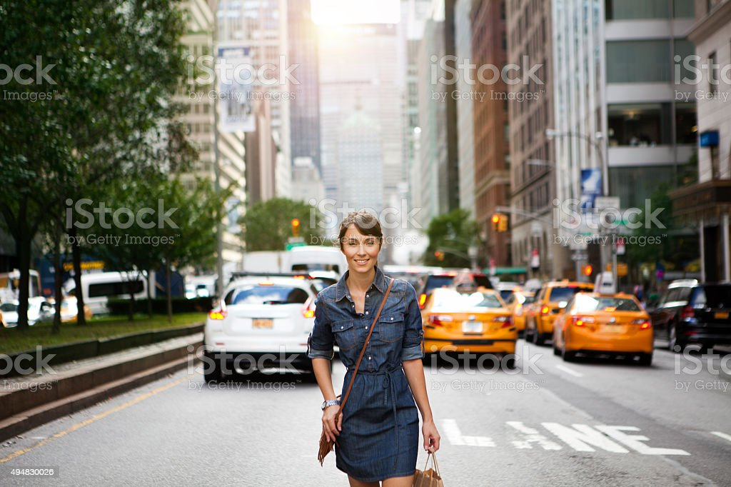On streets of New York stock photo