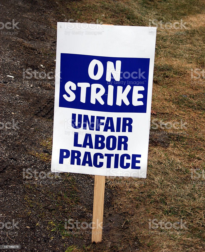 On Strike Sign royalty-free stock photo