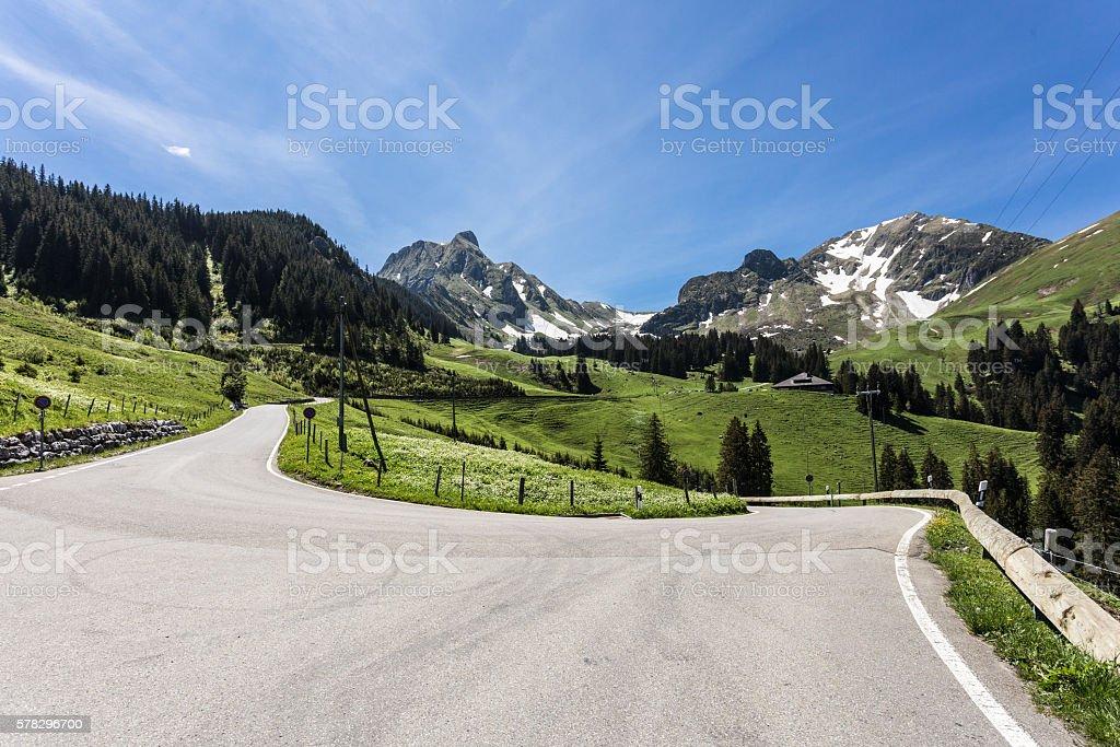 On Swiss roads stock photo