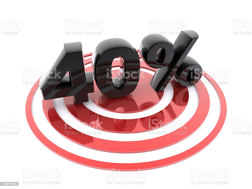 40% on taget royalty-free stock photo