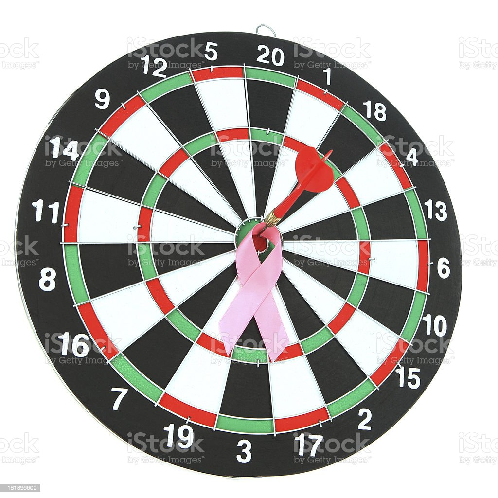 On Target for Breast Cancer royalty-free stock photo