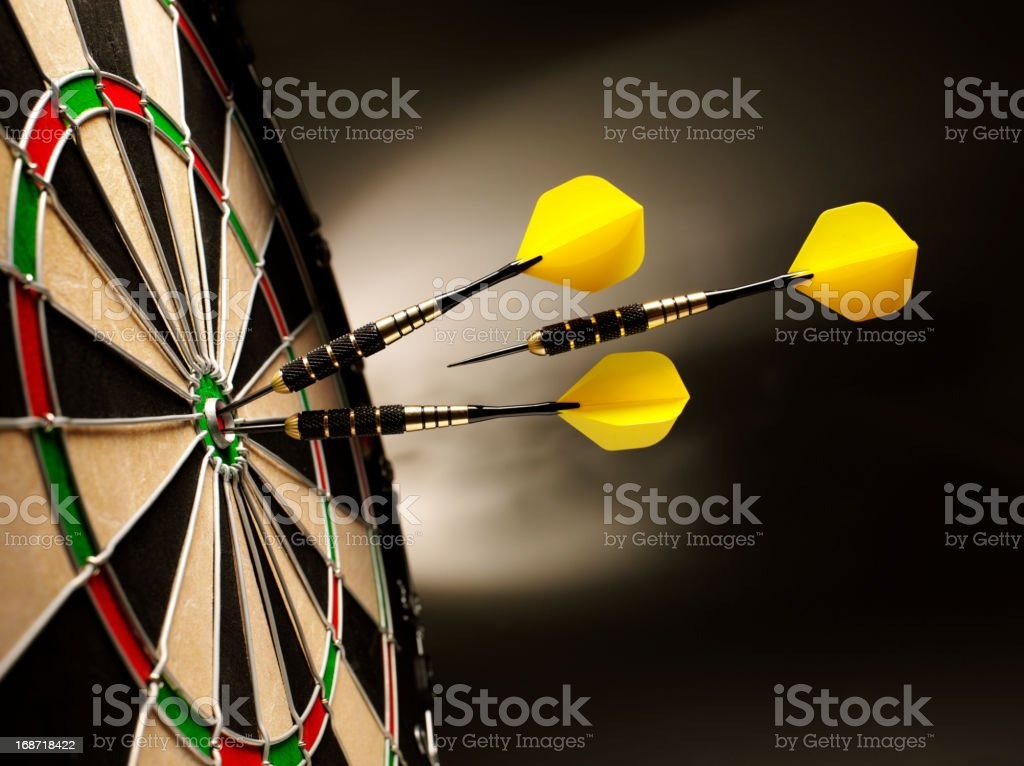 On Target in Darts royalty-free stock photo