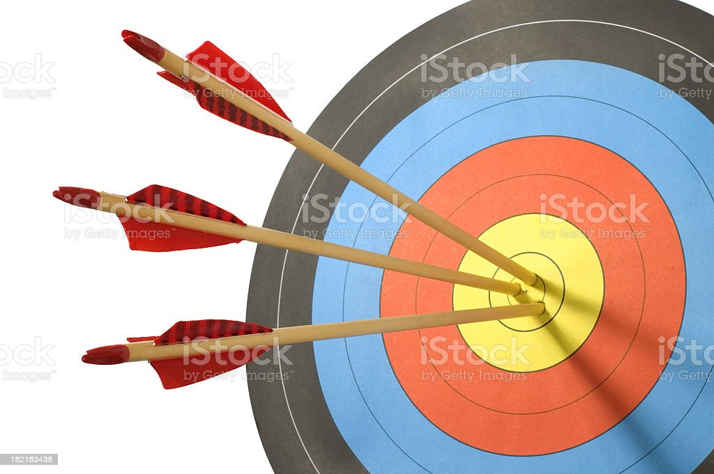 On target stock photo