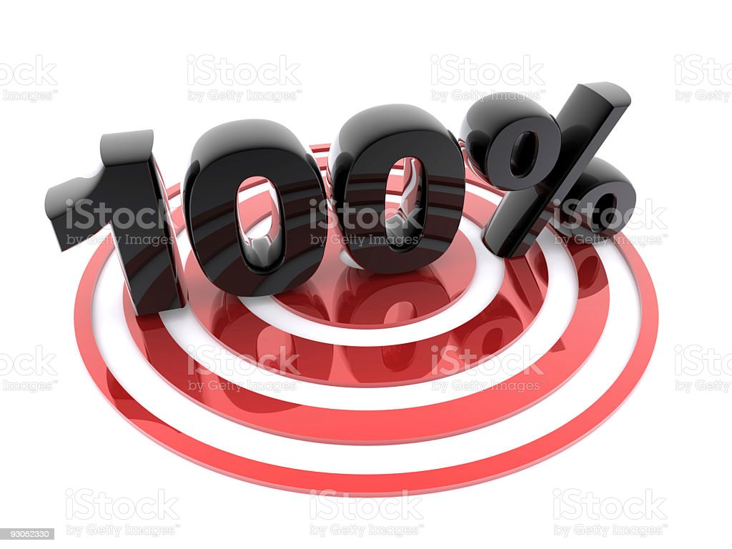 100% on target royalty-free stock photo