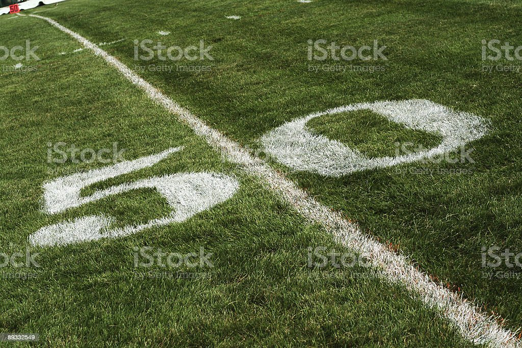 On the 50 Yard Line royalty-free stock photo