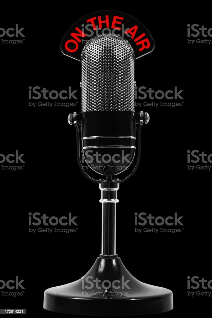 On the air microphone stock photo