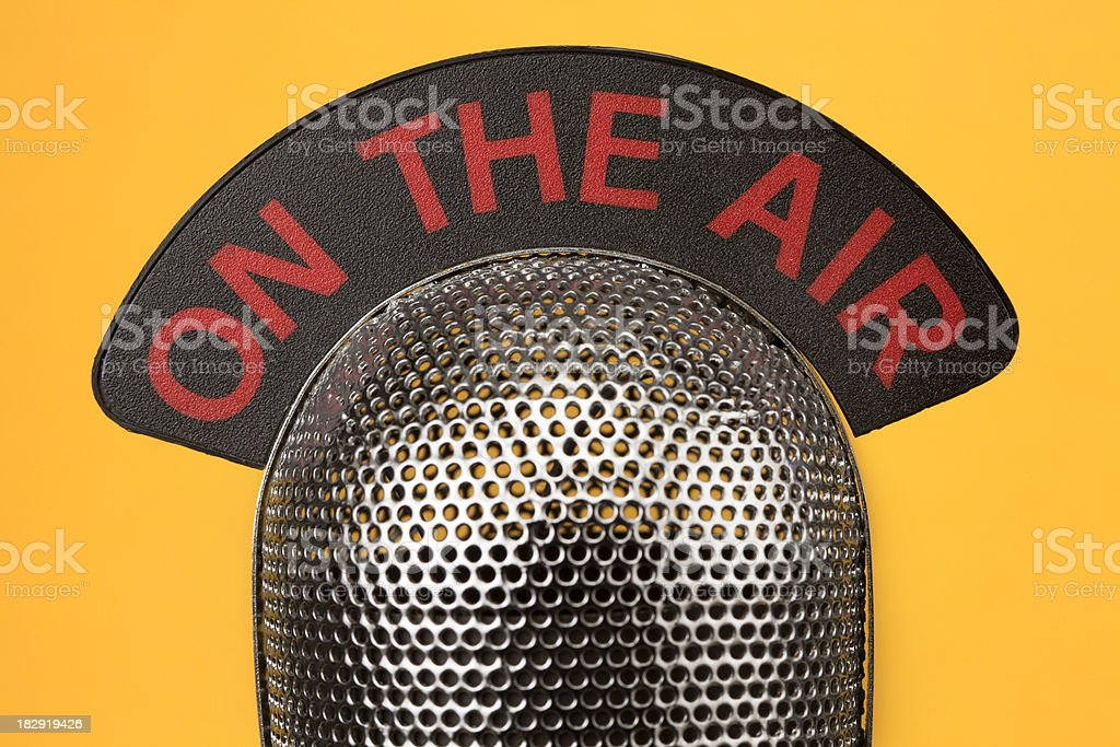 on the air royalty-free stock photo