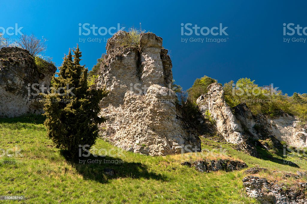 On the Altmuehltal Panorama Trail in Germany stock photo