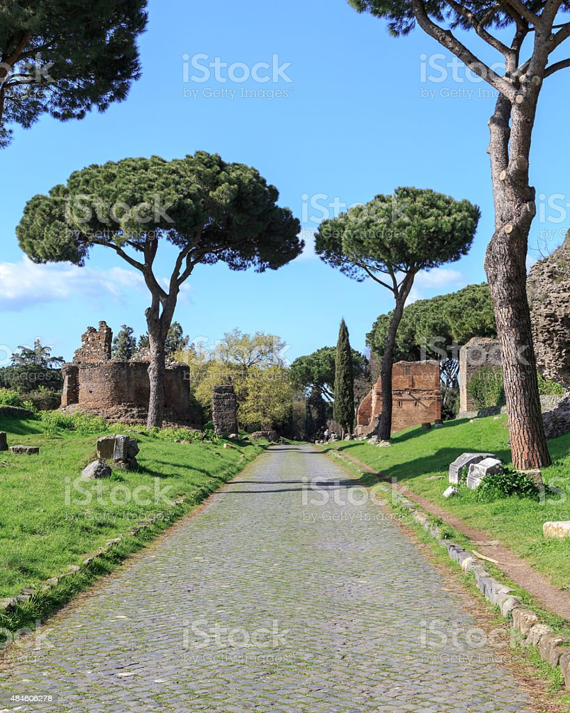 On the Appian Way stock photo