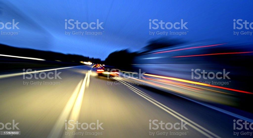 On the Autobahn stock photo