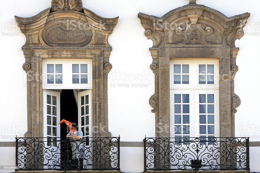 On the balcony royalty-free stock photo