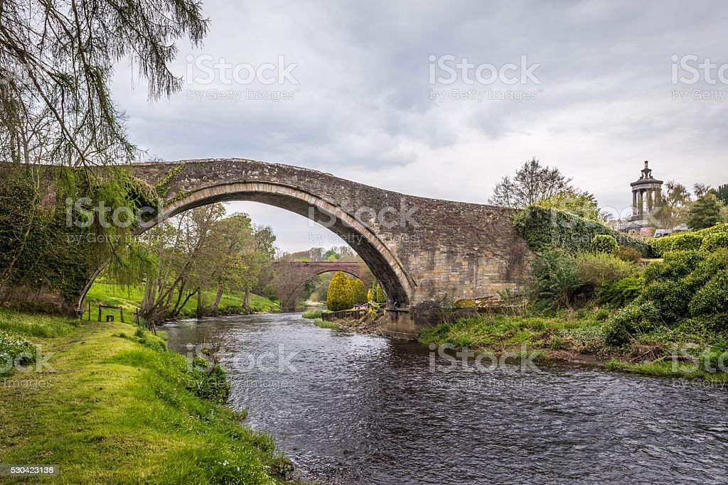 On the Banks of River Doon stock photo