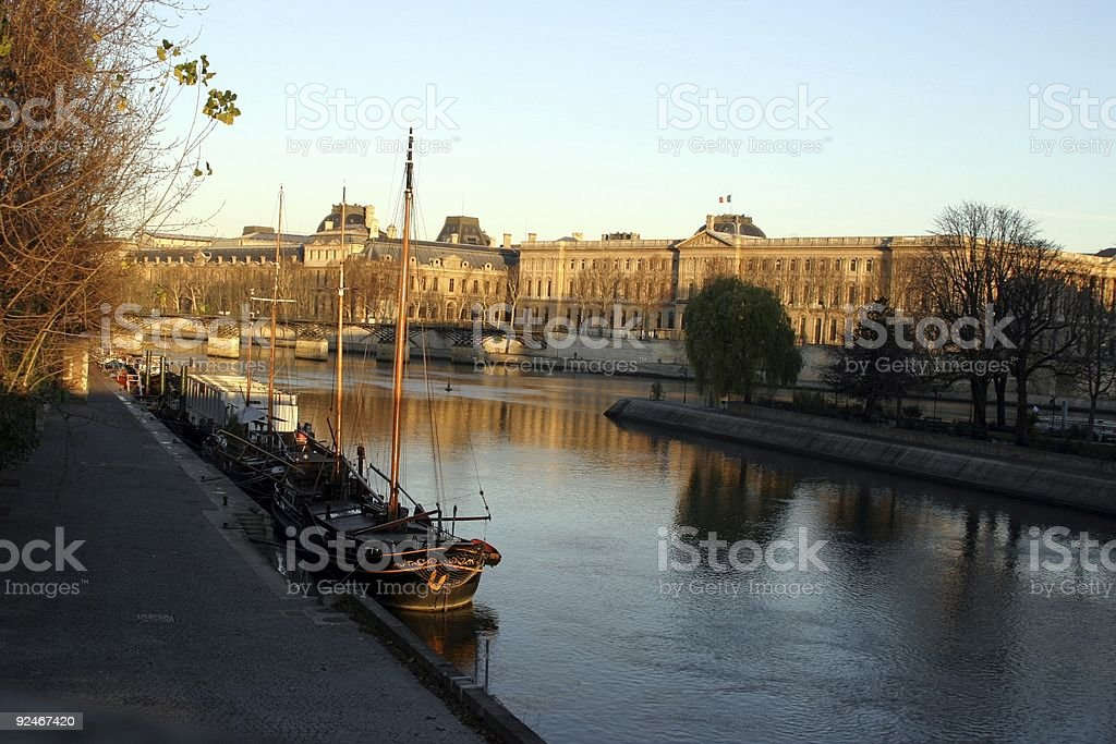 on the banks of the Seine royalty-free stock photo
