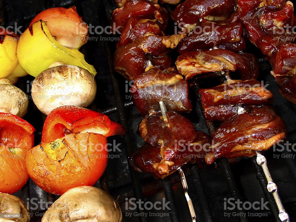 On the barbecue royalty-free stock photo