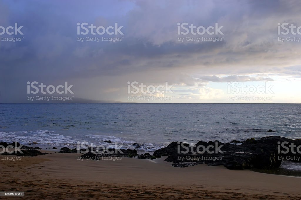 On The Beach Before the Storm royalty-free stock photo