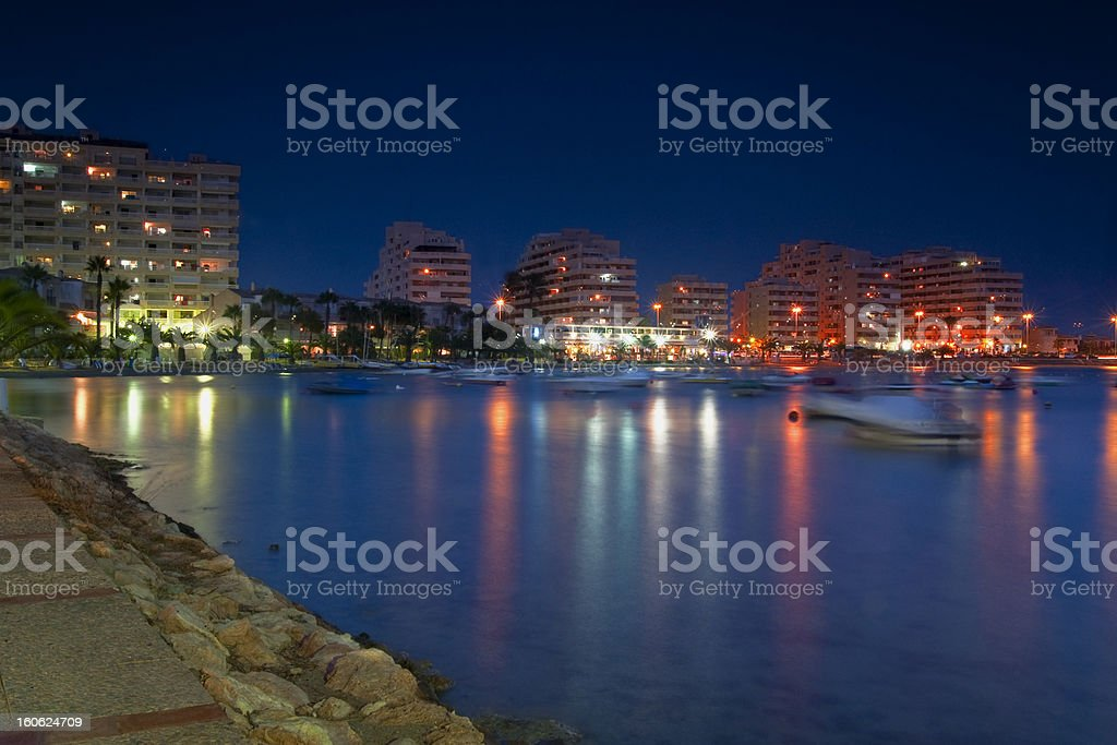 On the beach by night royalty-free stock photo