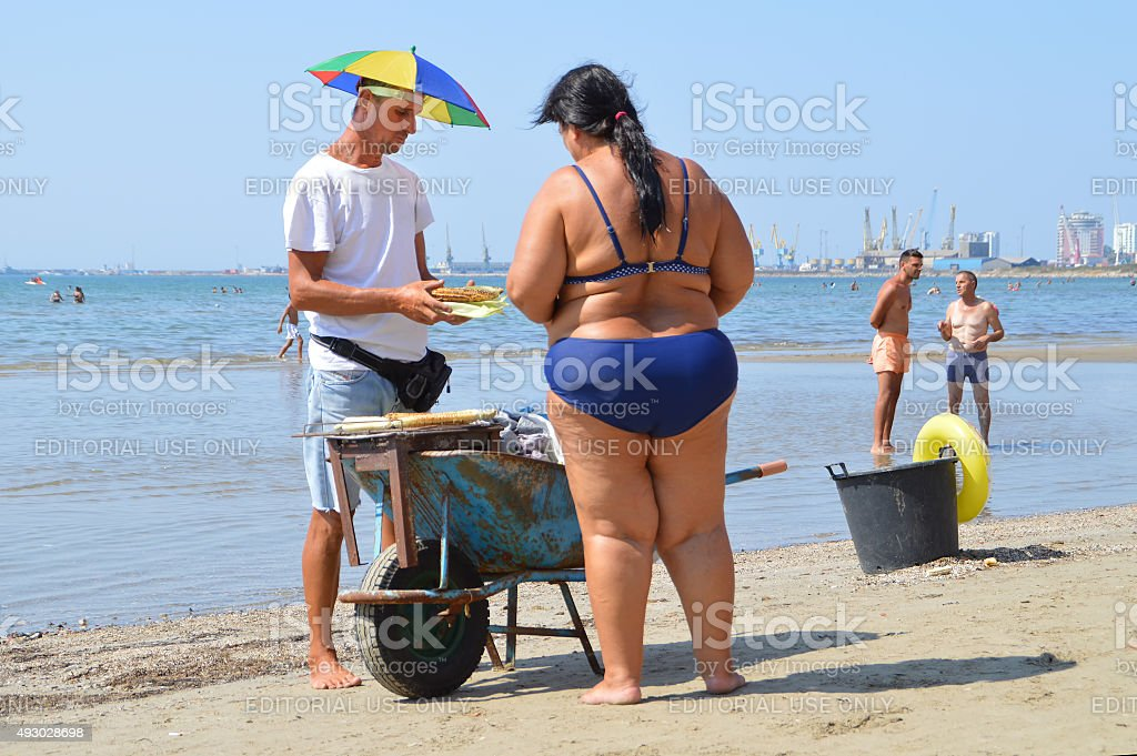 On the beach of Durres stock photo