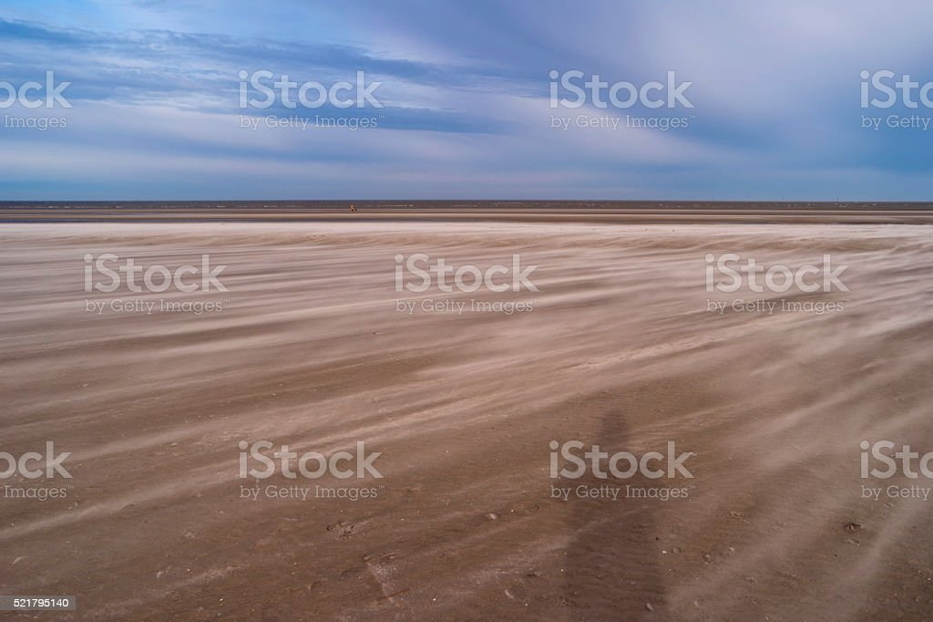 On the Beach of St. Peter-Ording in Germany stock photo