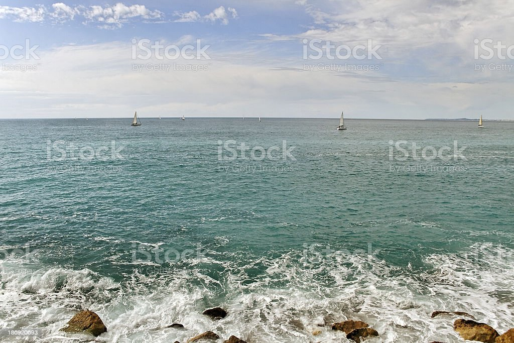 On the beach. royalty-free stock photo