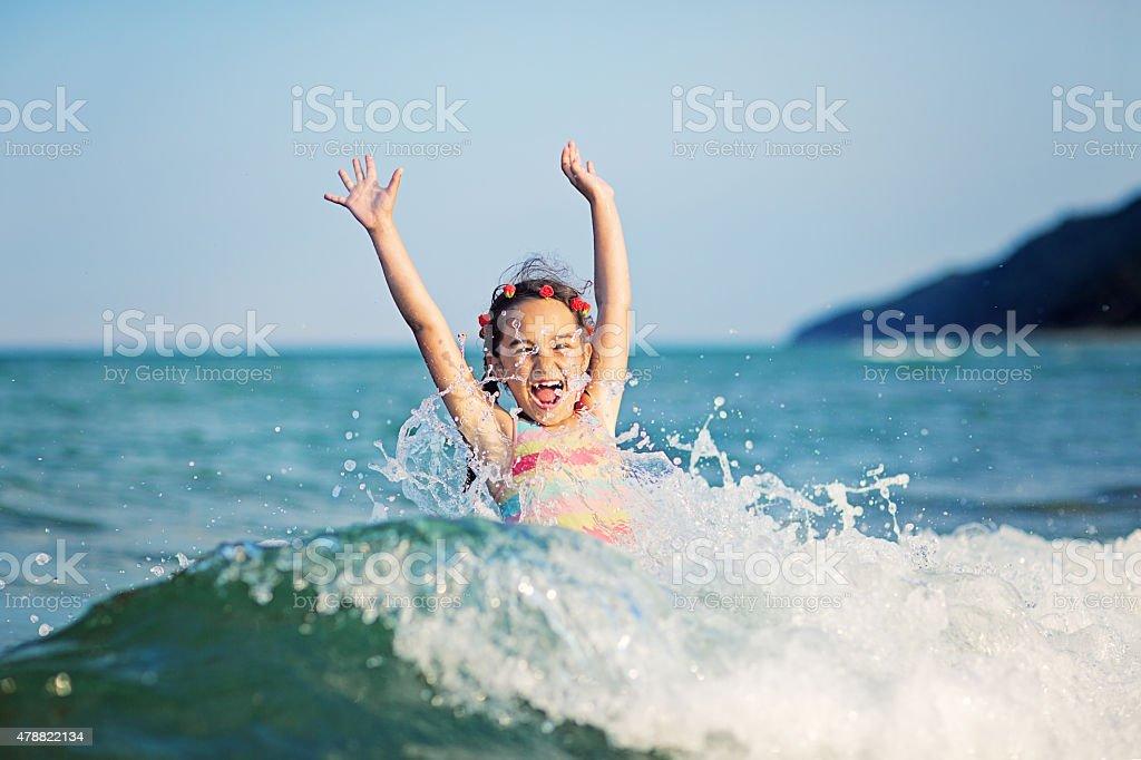 On the beach stock photo