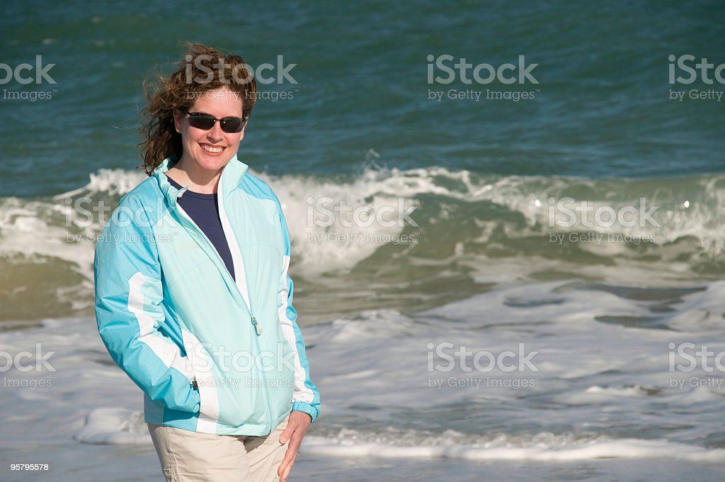 On the beach, South Carolina stock photo