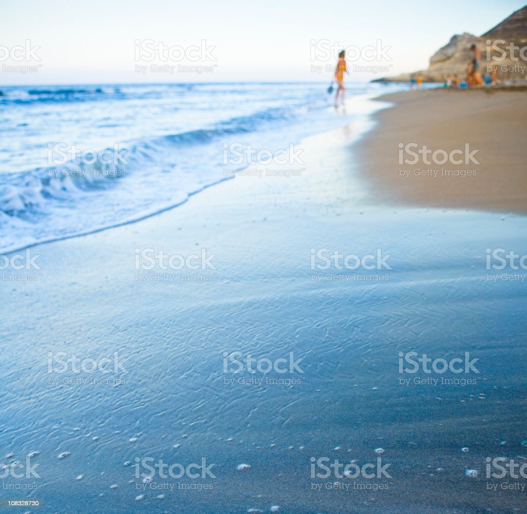 On the beach, summer time royalty-free stock photo