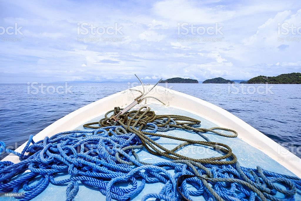 On the boat royalty-free stock photo