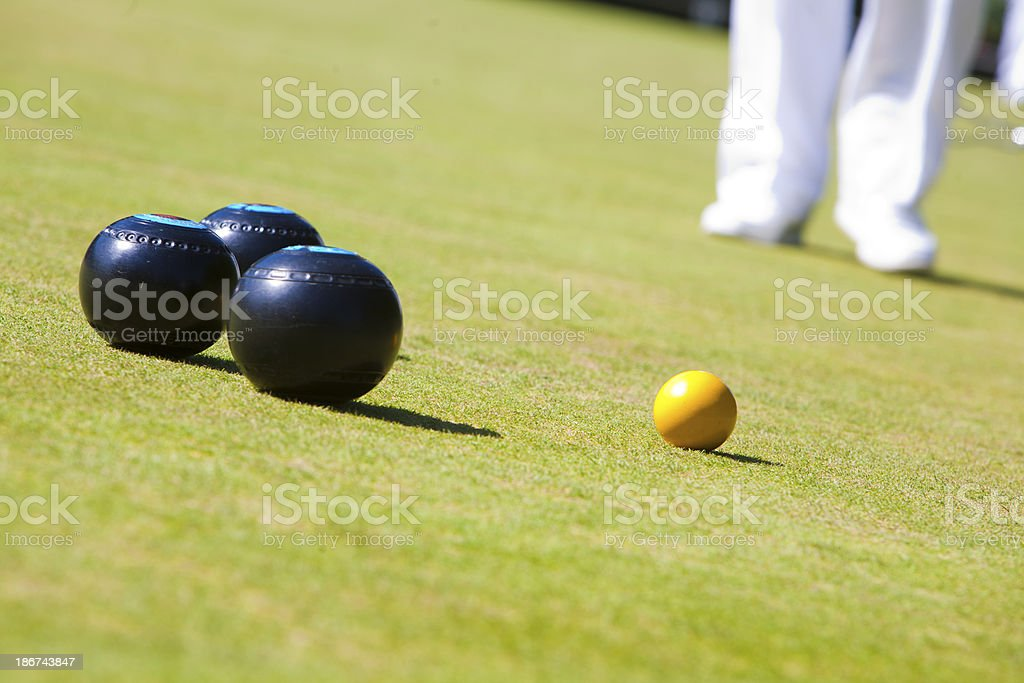 On the bowling green stock photo